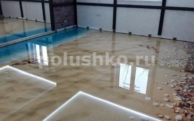 Наливные полы 3D в тренажерном зале Раменское