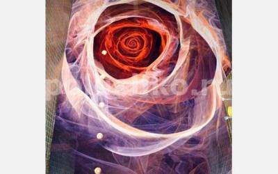 Наливной пол с изображением розы