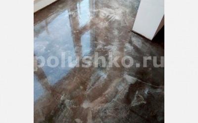 Наливной пол под камень в квартире