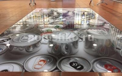 3д пол с жестяными банками в Наро-Фоминске