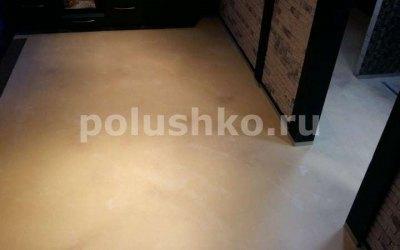 Полимерный наливной пол под мрамор