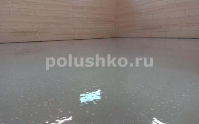Наливной полимерный пол в гараже Клинский район