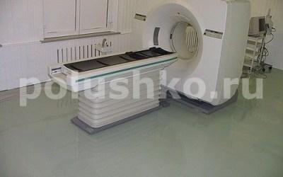 Наливной пол в кабинете компьютерной томографии