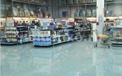 Полимерный пол в магазине
