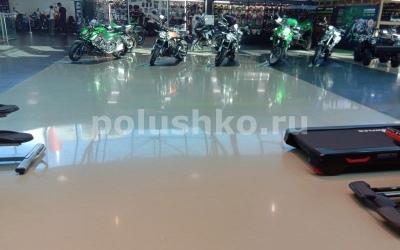 эпоксидный наливной пол в торговом зале