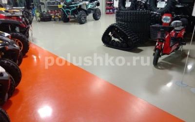 полимерный наливной пол в торговом центре