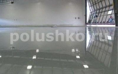 Серый наливной пол на складе