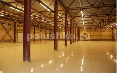 Промышленные наливные полы на складе