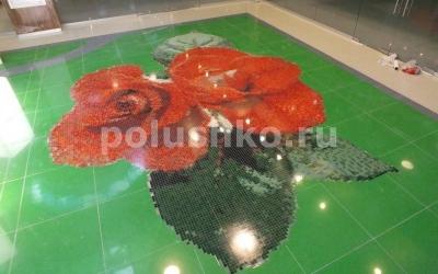 Прозрачный наливной пол на мозаику. ТЦ Первомайский