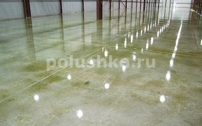 Обеспыливание бетонных полов на складе