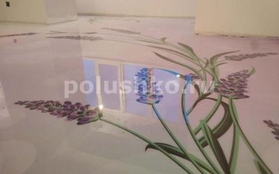 наливные 3 д полы с цветами