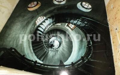 Наливной пол лестница вниз