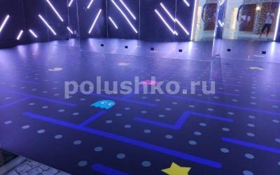 матовые 3д полы в отеле Мрия, Крым, Пакмэн