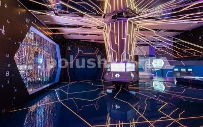 Наливной пол с подсветкой ВДНХ Умный город