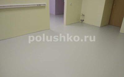 Серый наливной пол в лаборатории МГУ