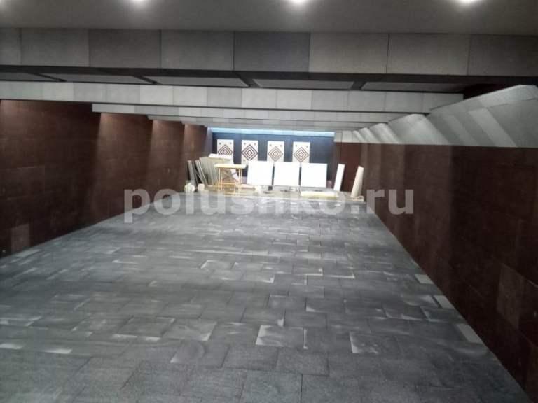 Полиуретановый наливной пол на резиновых матах в стрелковой галерее