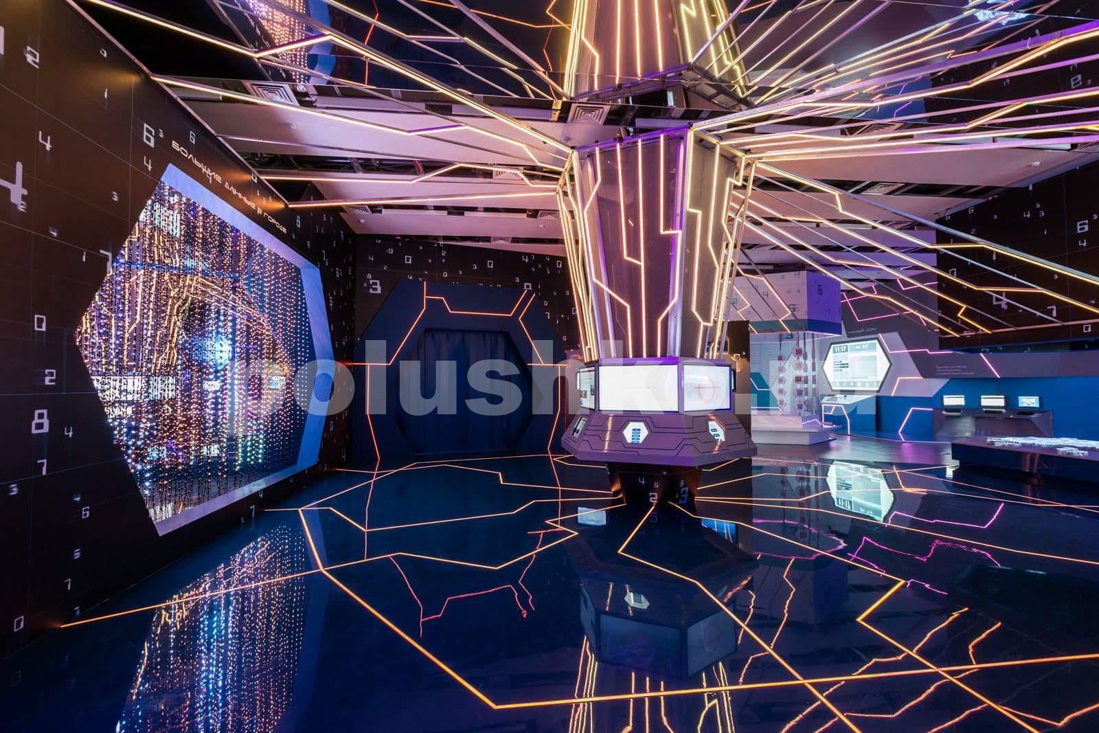 наливной пол с подсветкой на ВДНХ в павильоне Умный город