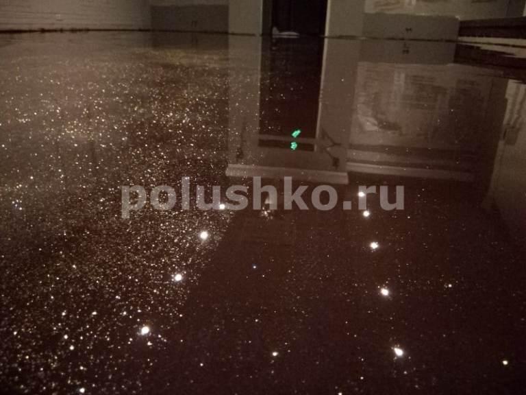 Наливной пол с блёстками в гостинице Салют Москва