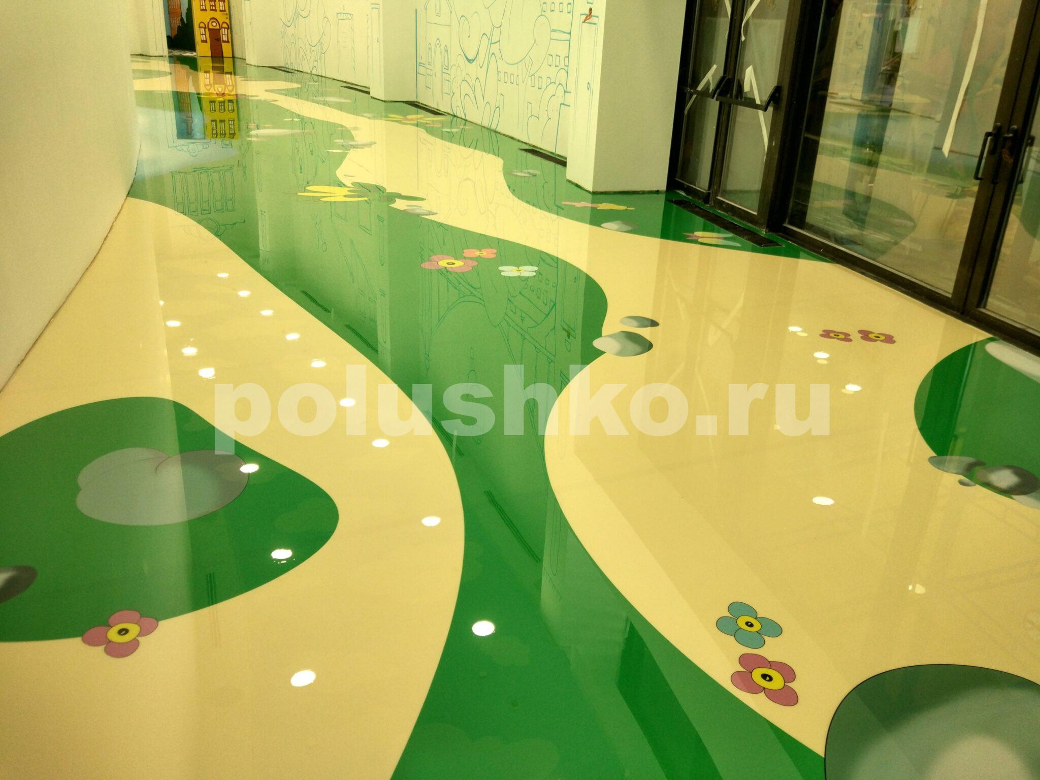 Цветной наливной пол в гостинице Мрия Ялта