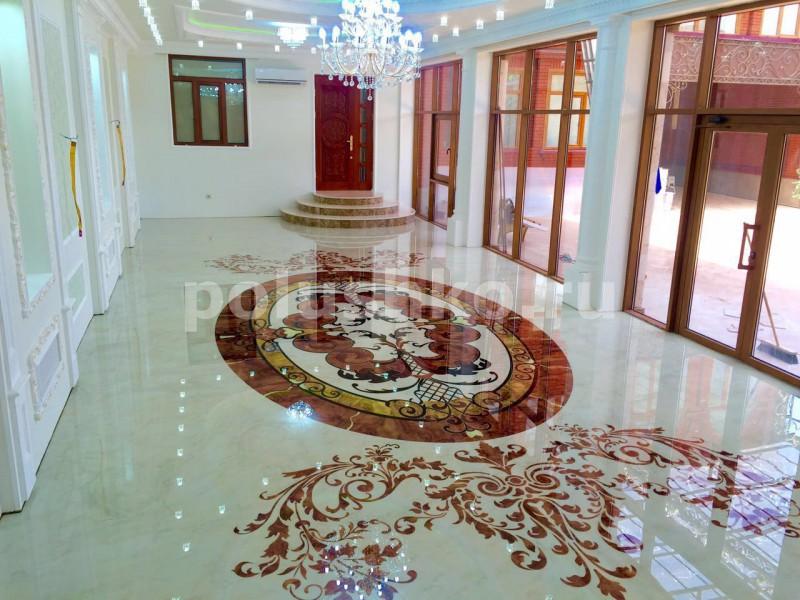 Наливной пол с рисунком мрамора в Чечне