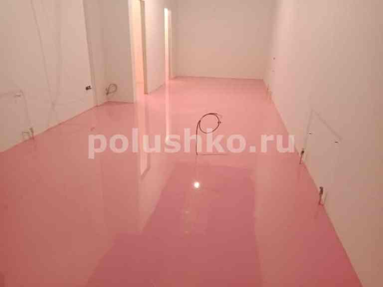 розовый наливной пол
